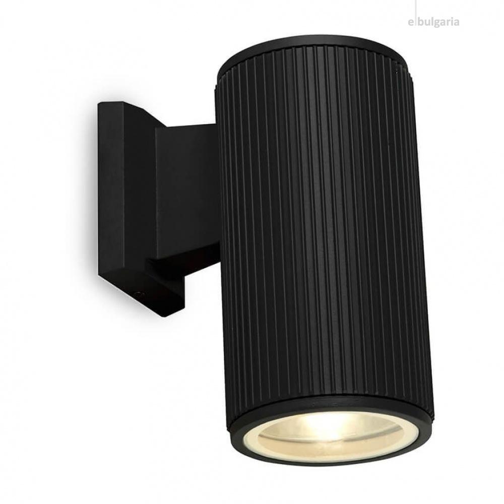 градински аплик, black/clear, 1xE27, searchlight, 6871bk