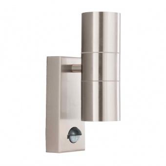 градински аплик, stainless steel, 2xGU10, sensor, searchlight, 7008-2-316l