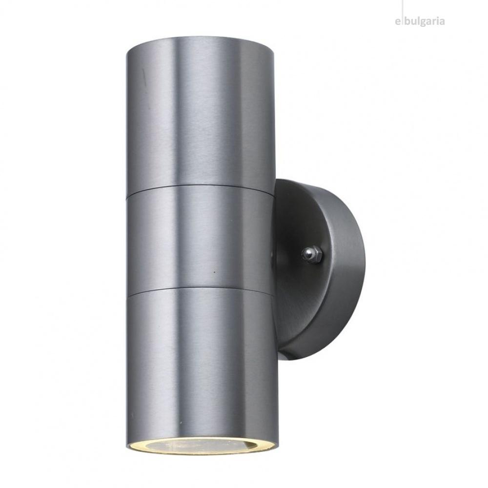 градински аплик, stainless steel, 2xGU10, searchlight, 5008-2-316l