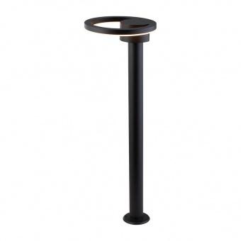 градински стълб, sand black/frosted, led 12w, 3000k, 740lm, searchlight, 6452bk