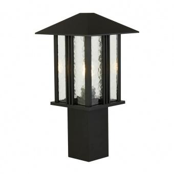градински стъб venice, black/clear, 1xE27, searchlight, 7925-450