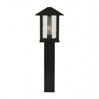 градински стъб venice, black/clear, 1xE27, searchlight, 7925-740