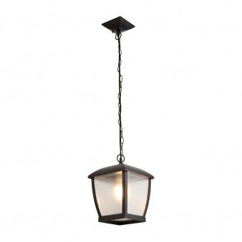 градински пендел seattle, black/clear frosted, 1xE27, searchlight, 6592bk