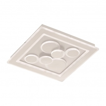 плафон ratio, white, led 49w, 3000k-6500k, 4300lm, fischer&honsel, 20132