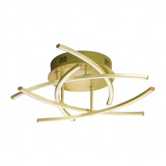 плафон cross, brass matt coloured, 5xled 4w, 2700k-4000k, 2400lm, fischer&honsel, 20050