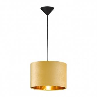 пендел aura, black matt/velvet yellow, 1xE27, fischer&honsel, 60518