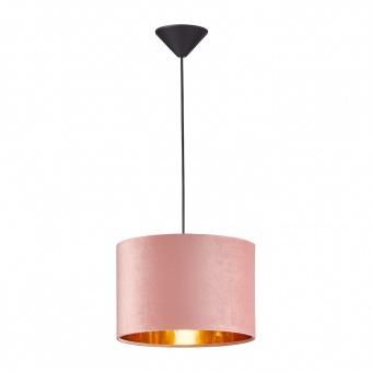 пендел aura, black matt/velvet rose, 1xE27, fischer&honsel, 60519