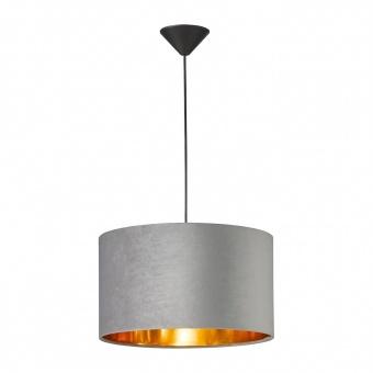 пендел aura, black matt/velvet grey, 1xE27, fischer&honsel, 60083