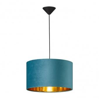 пендел aura, black matt/velvet turquoise, 1xE27, fischer&honsel, 60068