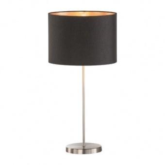 настолна лампа loft, nickel matt coloured+black shade, 1xE27, fischer&honsel, 50373