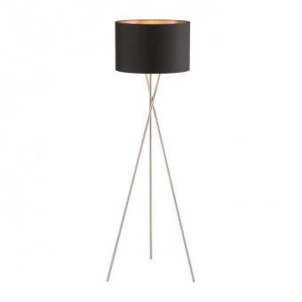 лампион wotan, nickel matt colored+black shade, 3xE27, fischer&honsel, 40230