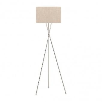 лампион wotan, nickel matt colored+linen sand shade, 3xE27, fischer&honsel, 40264
