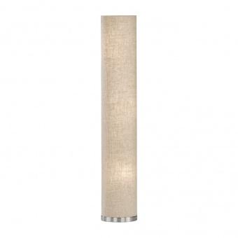 лампион thor, nickel matt coloured+linen sand shade, 3xE14, fischer&honsel, 40028