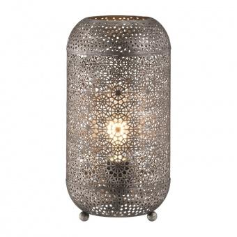 настолна лампа velvet, antique silver coloured, 1xE27, fischer&honsel, 50384