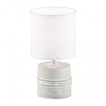 настолна лампа pilot, white/brown coloured, 1xE14, fischer&honsel, 50358