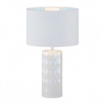 настолна лампа abo, pearl white, 1xE27, fischer&honsel, 50005