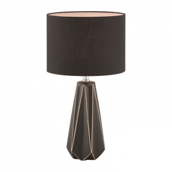 настолна лампа anau, black matt, 1xE27, fischer&honsel, 50048