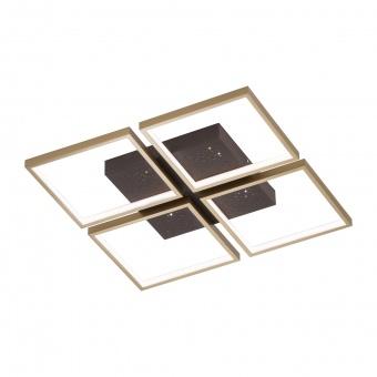 плафон pix, brown/rust coloured, 4xled 11w, 3000k, 6100lm, fischer&honsel, 20107