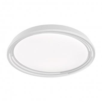 плафон dua, white/silver coloured, led 32w, 3000k, 3500lm, fischer&honsel, 20808