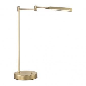 настолна лампа nami, brass matt coloured, led 6w, 2700k-3350k-4000k, 730lm, fischer&honsel, 50406