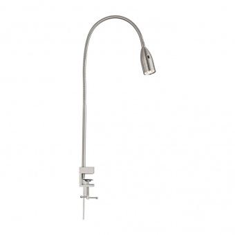 настолна лампа sten, nickel matt coloured, led 5w, 3000k, 420lm, fischer&honsel, 50375