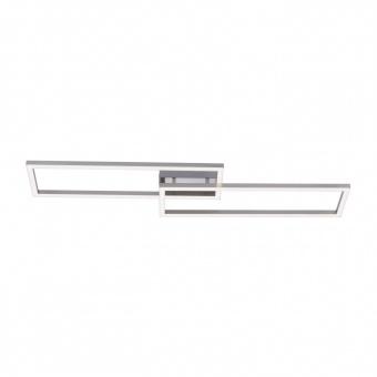 плафон lolasmart-maxi, stainless steel, 2xled 18w, 2700k-5000k, 4320lm, rgb, leuchtendirekt, 16430-55
