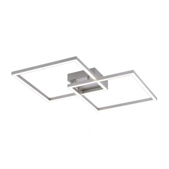 плафон lolasmart-maxi, stainless steel, 2xled 12.5w, 2700k-5000k, 3000lm, rgb, leuchtendirekt, 16429-55
