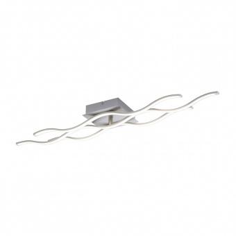 плафон lolasmart-wave, stainless steel, 2xled 8.20w+1xled 11.50w, 2700k-5000k, 2790lm, rgb, leuchtendirekt, 16266-55