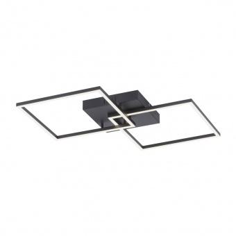 плафон iven, black, 2xled 13.5w, 2700k-5000k, 1250lm, leuchtendirekt, 14141-18