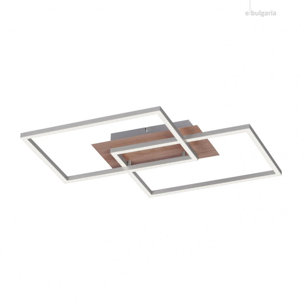 плафон iven, woodlike, 2xled 15w, 2700k-5000k, 1700lm, leuchtendirekt, 14018-78