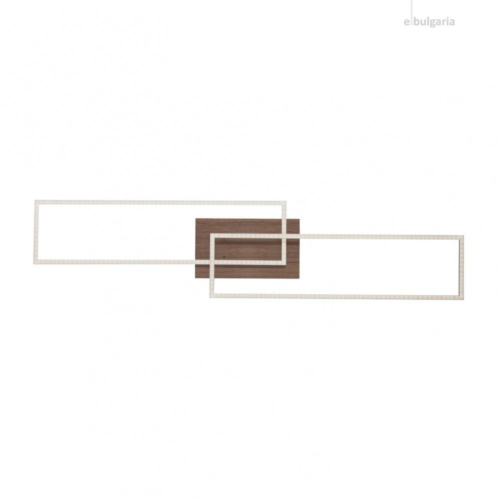 плафон iven, woodlike, 2xled 20w, 2700k-5000k, 1920lm, leuchtendirekt, 14019-78