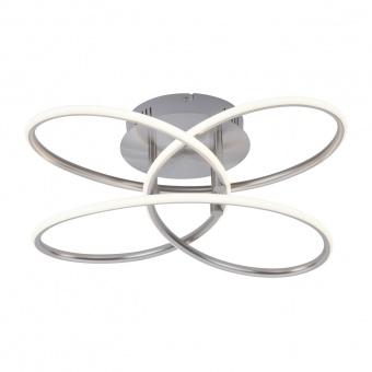плафон node, nickel matt, led 27w, 3000k, 2000lm, leuchtendirekt, 15660-55