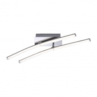 плафон simon, chrome, 2xled 5w, 3000k, 750lm, leuchtendirekt, 11270-55