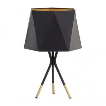 настолна лампа ivo, black+gold, 1xE27, tk lighting, 5157