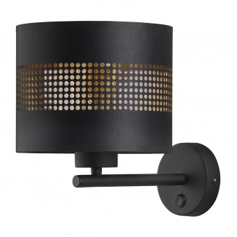 аплик tago black, black+gold, 1xE27, tk lighting, 3210