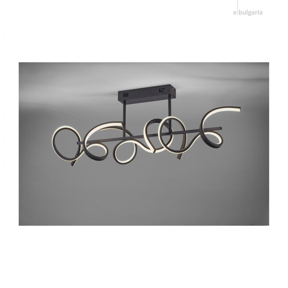 плафон curls, black, 3xled 8.60w, 3000k, 1800lm, leuchtendirekt, 19032-18