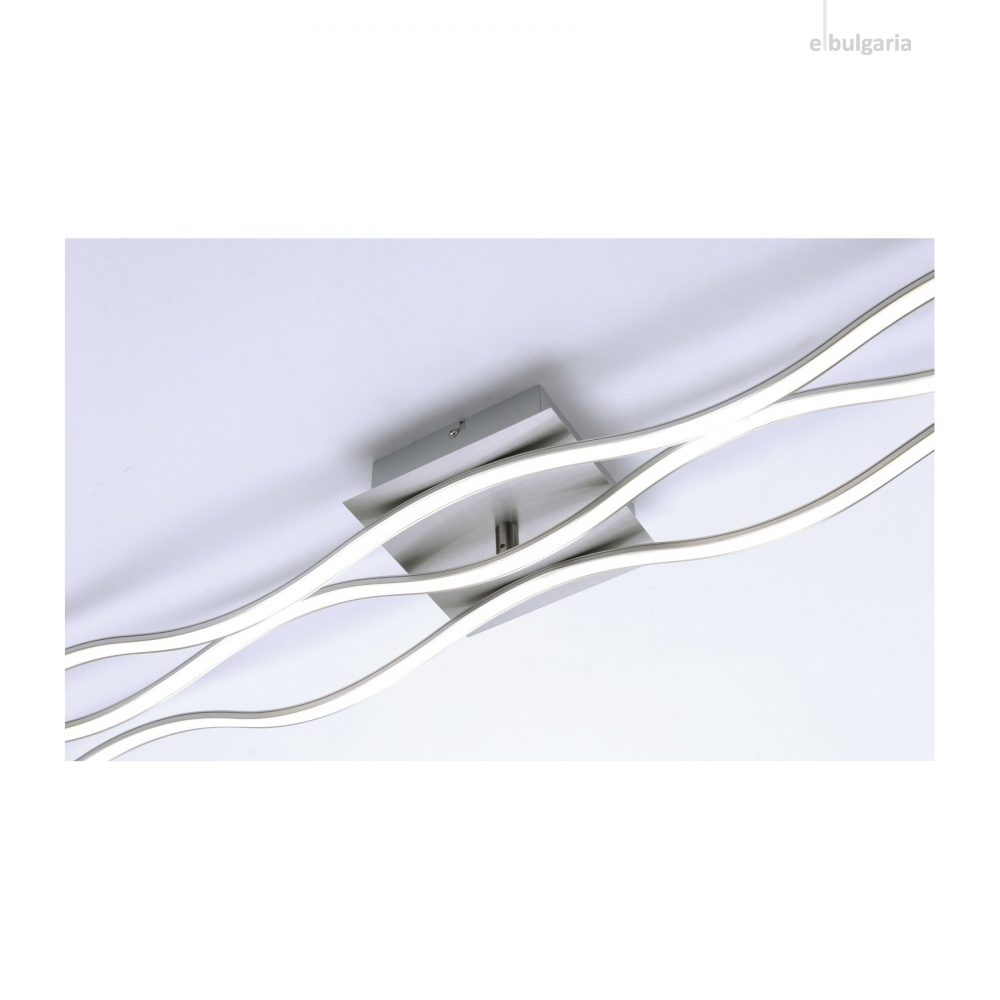 плафон wave, stainless steel, 2xled 12w+led 16w, 3000k, 2800lm, leuchtendirekt, 15167-55