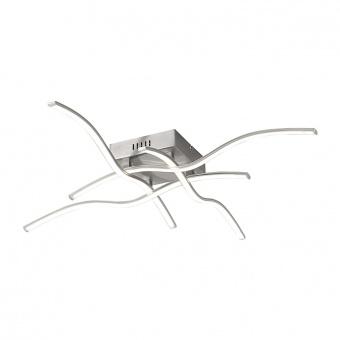 плафон wave, stainless steel, 4xled 7.20w, 3000k, 1380lm, leuchtendirekt, 15132-55