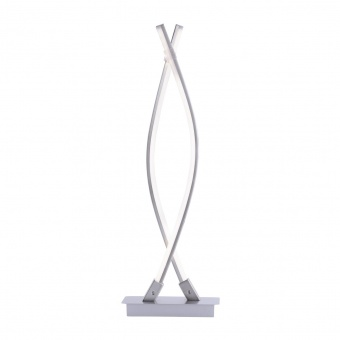 настолна лампа maja, matt chrome, 2xled 5w, 3000k, 650lm, leuchtendirekt, 15381-55