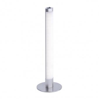 настолна лампа amilia, matt chrome, led 6w, 3000k, 360lm, leuchtendirekt, 15272-55