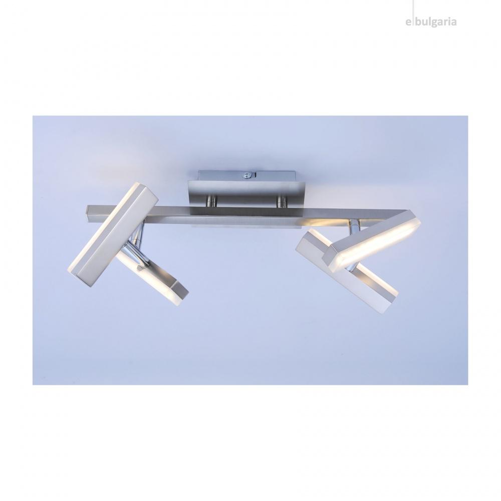 спот rico, nickel matt, 4xled 2w, 3000k, 580lm, leuchtendirekt, 11277-55