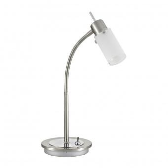 настолна лампа max led, stainless steel, 1x 4w, 3000k, 400lm, leuchtendirekt, 11935-55