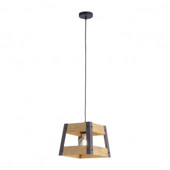 пендел crate, light brown/black, 1xE27, leuchtendirekt, 15720-79