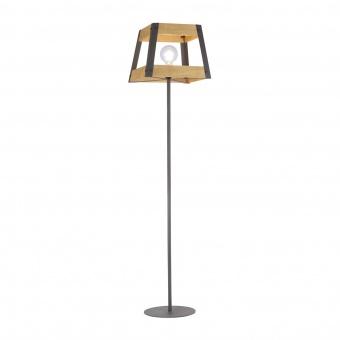 лампион crate, light brown/black, 1xE27, leuchtendirekt, 15723-79