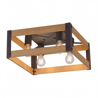 плафон crate, light brown/black, 4xE27, leuchtendirekt, 15724-79