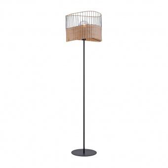 лампион reed, light brown/black, 1xE27, leuchtendirekt, 11151-79