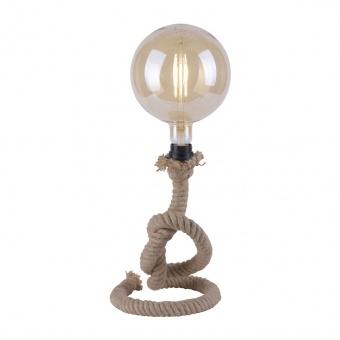 настолна лампа rope, brown, 1xE27, leuchtendirekt, 15480-18