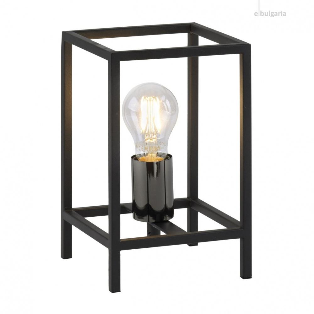 настолна лампа fabio, black, 1xE27, leuchtendirekt, 15812-18