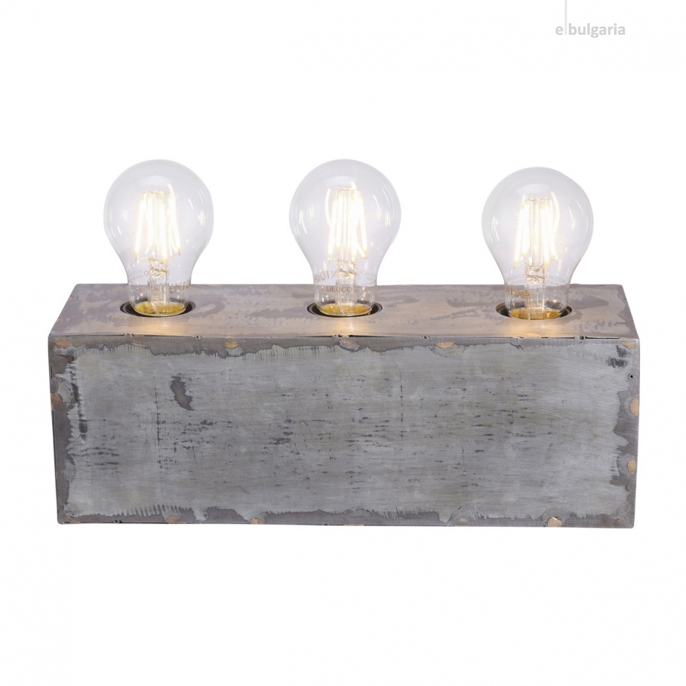 настолна лампа samia, grey, 3xE27, leuchtendirekt, 11498-77