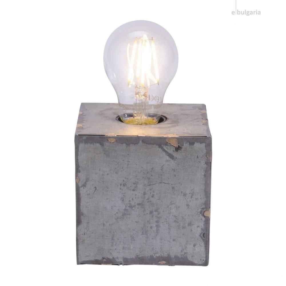 настолна лампа samia, grey, 1xE27, leuchtendirekt, 11499-77